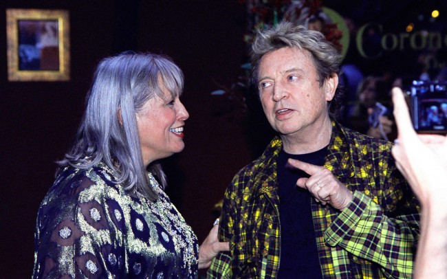 Guitarist Andy Summers from the POLICE and Mary Guibert at a tribute concert for Jeff Buckley